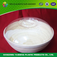 Recycling and non-toxic custom plastic bowl with lid