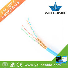 305m/box 1000ft network cable 24awg copper ftp cat6 stranded cable with high performance