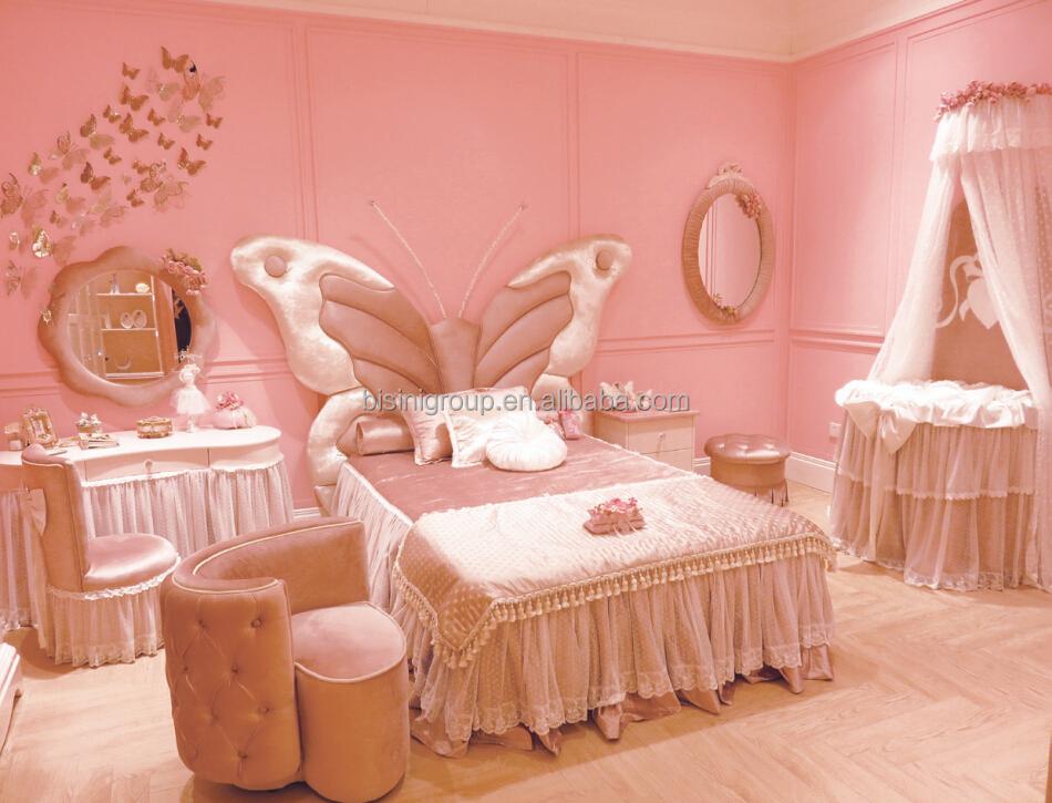 Europäischen stil licht rosa und elfenbein kinder schlafzimmer ...