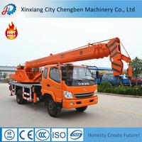 Quality 10 ton Crane Hydraulic Mobile Small boom lifts