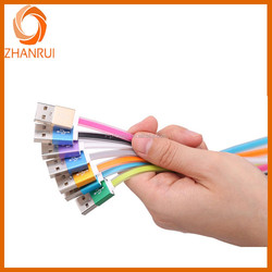 Types of data communication cables with fruit color and noodle shape data cable