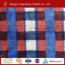 manufacture various print flannel fleece fabric /coral fleec/polar fleece warp knitting with two sides plush blanket fabric