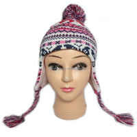 Winter Knitted protective ear cap for children