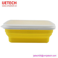 2015 Yellow Rectangle Shape Korean Lunch Box For Sale