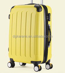 ABS carry-on trolley luggage with 2 side wheel