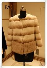 2015 nuevo diseño de piel de conejo rex abrigo de señora