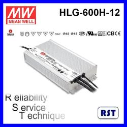 HLG-600H-12 600W 12V 40A with IP65 IP67 made in Taiwan Meanwell LED Switching Power Supply