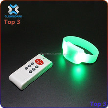 Event and concert supplies for light up LED remote bracelet, top selling LED flashing bracelet, RC color change LED bracelet