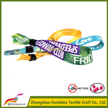 Custom Sublimated polyester Event Wristband for festival, party, meeting,,school, promotinal gifts