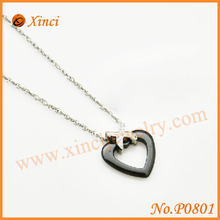 Rose gold / silver color heart pendant, best gift pendant luck