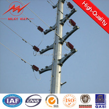 110kv&220kv tapered or octongal steel hot dip galvanization electric pole hedge trimmer for power and electricity transmission
