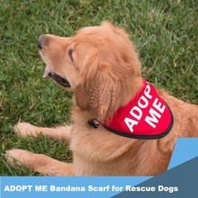 ADOPT ME Bandana Scarf for Rescue Dogs
