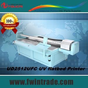 uv de cama plana plotter equipado dx5 cabezal de impresión rápida velocidad de los rayos uv de la luz led de la impresora