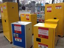 Lockable steel fire retardant chemicals safety storage cabinets
