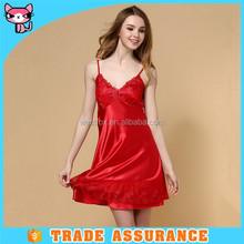 Classic soft red ladies sleepwear
