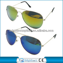 2014 Trendy Design Pilot CE FDA UV400 Metal With Revo Mirror Coating Aviator Sunglasses