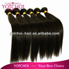 Grade AAAAA Double wefts full cuticle and shed free 100% unprocessed raw indian virgin hair