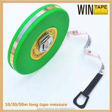 Chinese Manufactures factory price fiberglass tape round retractable tape measure 10 meter