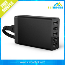wholesale alibaba 2016 Newest 40W 5 Ports usb Charge For All Smart Phones And Tablets