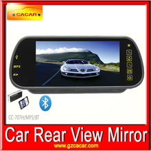 7 inch TFT LCD Bluethooth Car Rearview Color Monitor Reverse Mirror