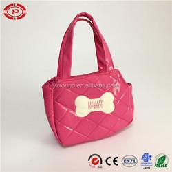 Pink hand bag quality dog bone logo girl gift bag