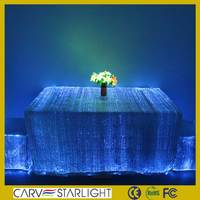 New design white led luxury dining party luminous table cover