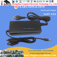 EU plug 16.8V 4.5A portable charger for 18650 lithium ion battery pack