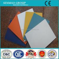 4'*8' one side unbreakable polyester /PVDF aluminium plastic sheet,decoration panels, plastic construction materials