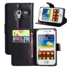PU Leather Wallet Flip Case Cover For Samsung GALAXY Ace Plus S7500