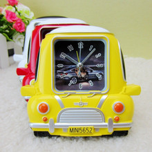 Wholesale 2015 New Design Funny Car Shap Desktop Clock / Alarm Clock /Table Clock For Baby Room Decor