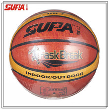 Official size and weight PVC competiton training laminated basketball