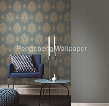 paper wall decor compani from China blue color classic style wallpaper