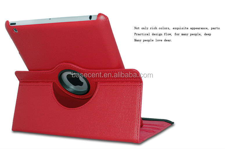 Leather case For Apple iPad 2/3/4 360 Rotating Magnetic PU Leather Case Smart Cover Stand