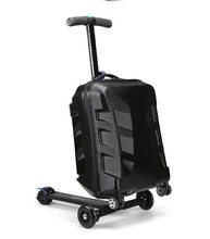 best price Newest design pc eva luggage 2 wheel self balance electric luggage scooter with 3 wheels