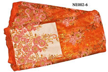 NE002-6 orange--Fashion style French Lace with pretty flower