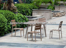 Outdoor garden furniture table chair / Hot sale teak wood armless chair furniture
