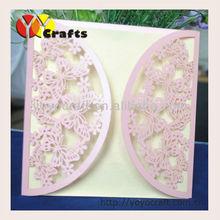 2014 innovative laser cut purple butterfly wedding decorating supplies