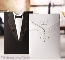 2015 the newest &3D& coustom&fancy wedding invitation greeting paper card