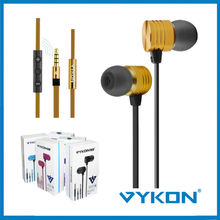 Heavy Power bass metal gold earphone