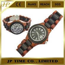 Natural Wood Timepiece analog quartz Japan movt wholesale wood watch