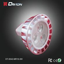 Energy saving 3W led spotlight MR16 small angle free standing spotlights