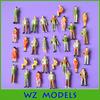 1;42 various colorful postures simulation human figure/used plastic scale figure