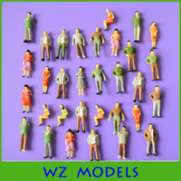 1;42 various colorful postures simulation human figure/used plastic scale figure