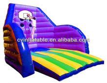 inflatable basketball toss game/basketball jousting game
