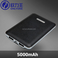 Universal Cell Phone Battery Charger 5000mah 2 USB Output Power Bank with Customize Logo