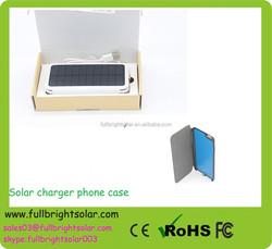 Easy carry solar external battery charger phone case/solar power phone case