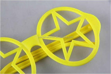 Plastic star yellow Goggles, Novelty Fancy Party Glasses