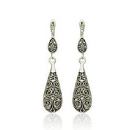 Top quality pendant earring of Hollow earring with there color earring double ball