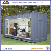 20 Feet Luxury Prefabricated Shipping Container Houses For Vacation Hotel