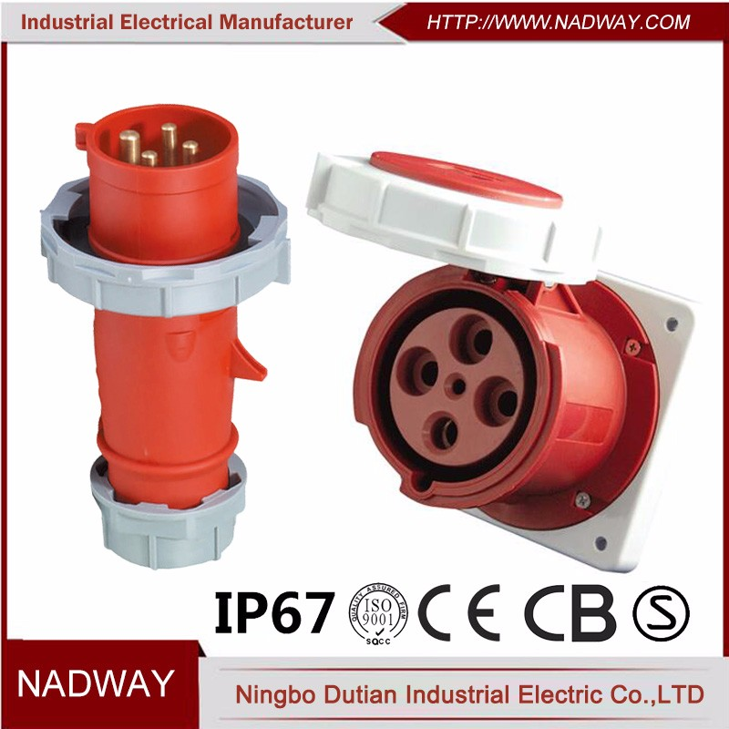 4 pin reefer container electrical explosion proof plug and socket.JPG